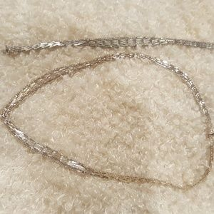 Jewelry - Sterling silver necklace and bracelet